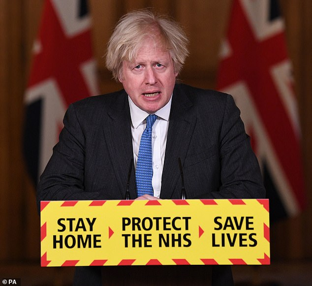 Prime Minister Boris Johnson during a media briefing in Downing Street, London, on Monday