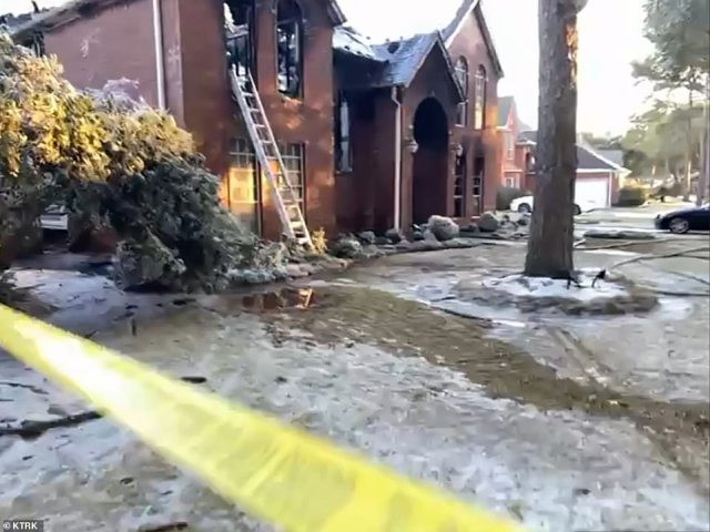 Officials say social media posts indicate that the family was using a fireplace to stay warm and may have also been using candles
