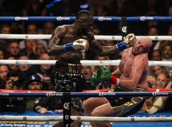 Deontay Wilder claims he knocked out Tyson Fury in their first fight after naming him in his top three finals