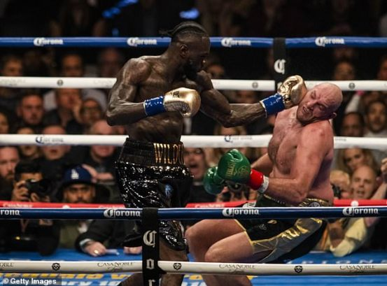 Deontay Wilder named Tyson Fury in the first three knockouts and claims he won their first fight