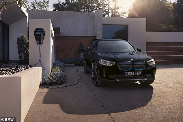For the study, What Car? compared the fees for a 10-to-80% charge on a BMW iX3 (pictured) with an 80kWh battery