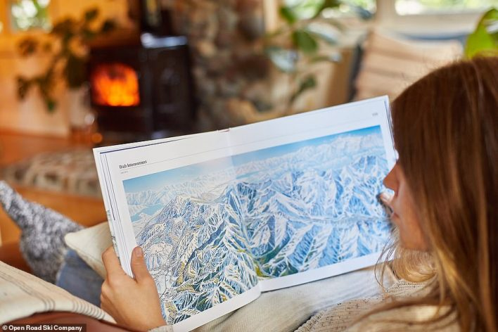 The Man Behind the Maps - Legendary Ski Artist James Niehues (pictured) showcases over 200 iconic ski resort trail maps hand-painted by artist Niehues