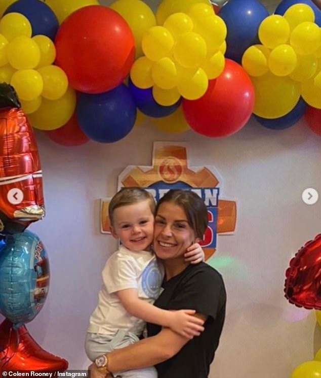 Happy birthday! Coleen and Wayne recently celebrated their youngest son Cass' third birthday with a fireman-themed party