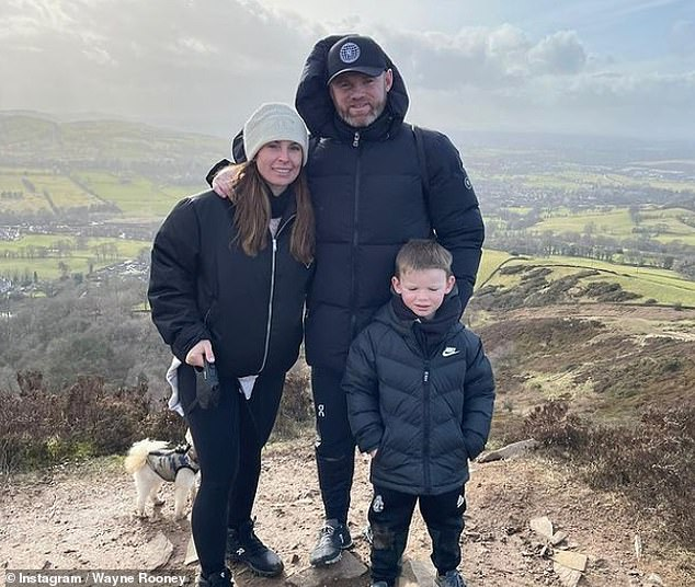 Heartwarming: It comes after Coleen recently enjoyed some much-needed family time as she headed out for a hike in the countryside with husband Wayne and son Kit