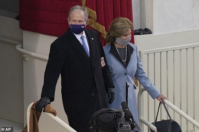 Former President George W. Bush and Laura Bush at Biden's inauguration