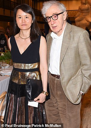 Allegations against Allen emerged after Farrow discovered he was having an affair with her adoptive daughter Soon-Yi (pictured in 2016) which the documentary claims had been going on since she was in high school