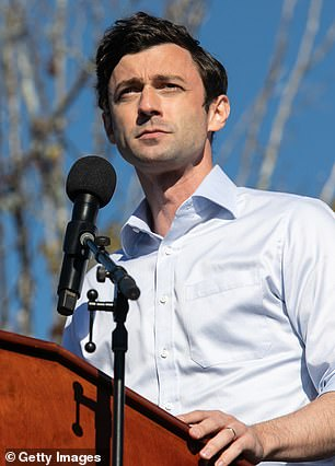 Democrats Jon Ossoff and Rev. Raphael Warnock were both honored with an inclusion after winning their run-off races in Georgia last month before being sworn into the senate. Ossoff is pictured