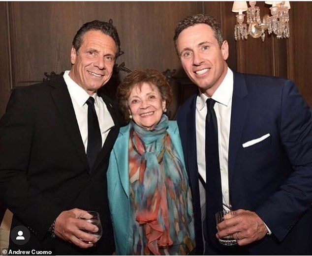 In one segment, Chris admitted that he regarded Andrew as America's best politician. They are pictured together above in a photo the governor shared for Mother's Day last year