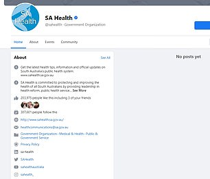 Posts from South Australia's health service have been stripped from the social media platform