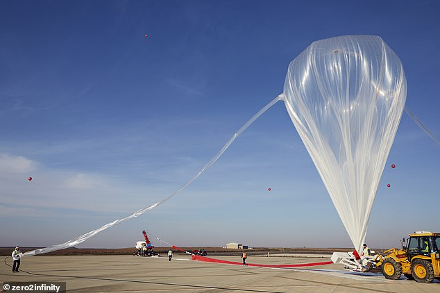 Spanish startup Zero 2 Infinity plans to float civilians some 130,000 feet above the surface using a helium balloon measuring 420 feet in diameter