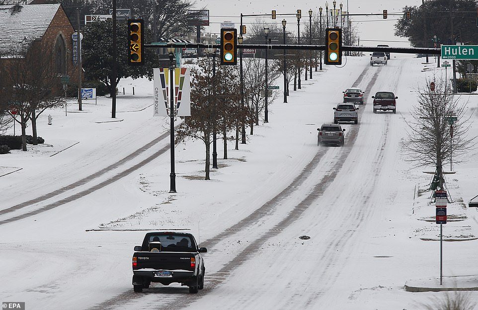 Fort Worth, Texas:Drivers are still dealing with treacherous conditions on streets for the fourth day of bad weather