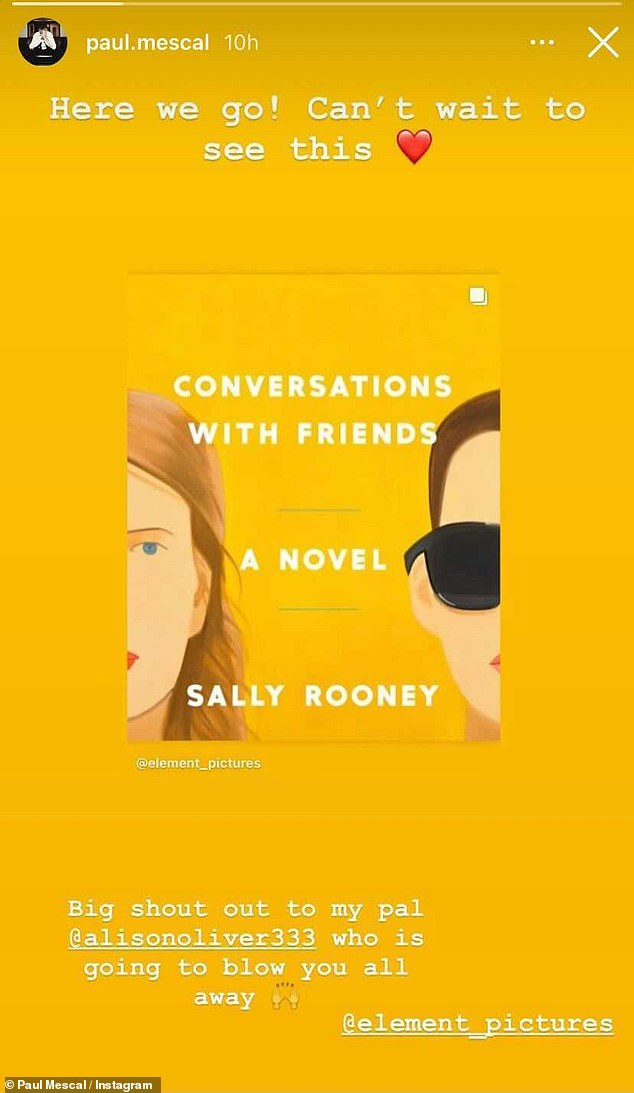 Last post?  It's unclear when Paul deactivated his Instagram account and in February, the Irish actor shared his excitement for Sally Rooney's upcoming 2017 book TV series, Conversations With Friends, on his profile.