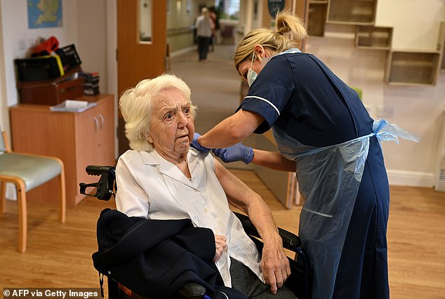 Ms Whately also suggested that care home visiting rules could be loosened within weeks thanks to the success of the national vaccination drive