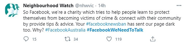 As well as affecting news sites, many non-news organisations including charities also ended up getting caught in the ban