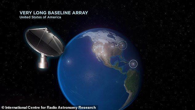 Astronomers used the Very Long Baseline Array - with telescopes across the US - to make their measurements of the black hole and partner star