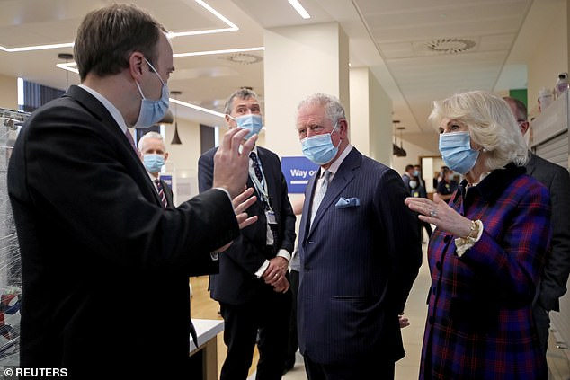 Prince Philip's hospitalisation is not being treated as an emergency and his son Prince Charles and his wife Camilla continued to carry out their first royal duties of the year, meeting volunteers taking part in clinical vaccine trials in Birmingham