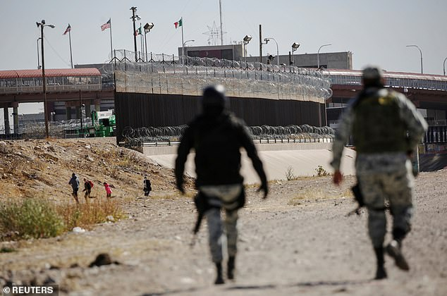 The billcontains no provisions on enhanced border security, which will make it a tough sell to Republicans on Capitol Hill - above migrants at the U.S. Mexico border flee agents
