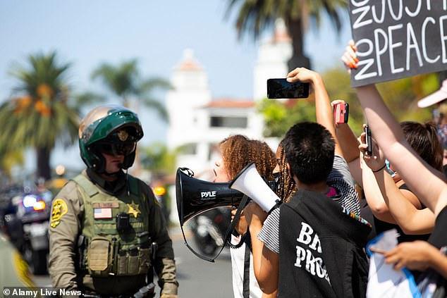 Protesters took to the streets of California in September in outrage over his death