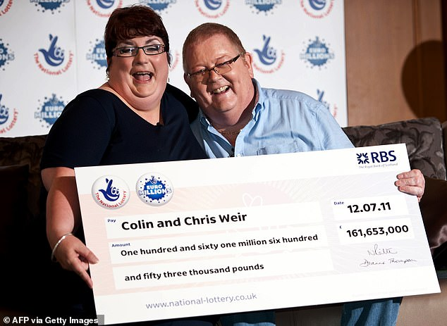 Colin Weir (right) and his wife Christine (left) of Largs, North Ayrshire, became the biggest named winners when they scooped £161.6million in July 2011 [File photo]