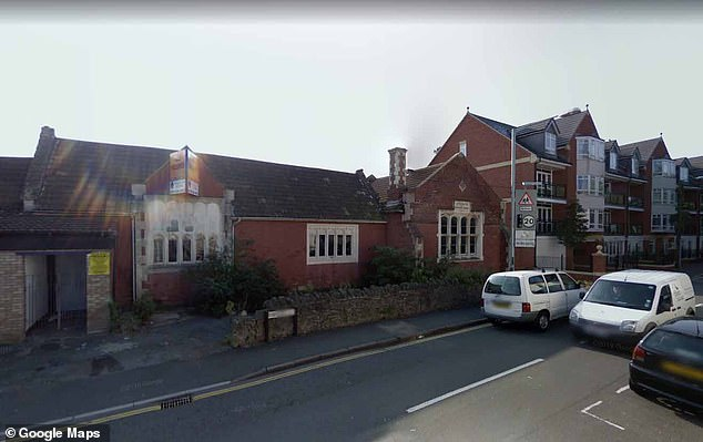 The street sign can be seen on Station Road via Google Maps as far back as 2008, when the previous building was still standing