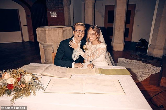 What a day! 'It was crazy emotional...it was just tears of joy and appreciation and just a whirlwind' said Proudlock of their special day