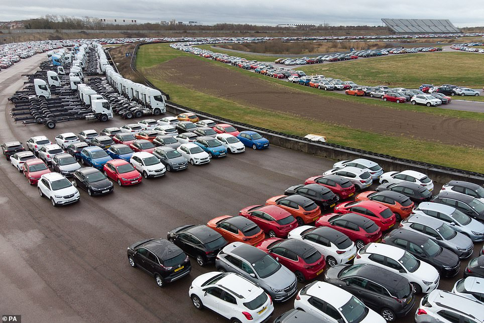 It is now stockpiling thousands of used vehicles