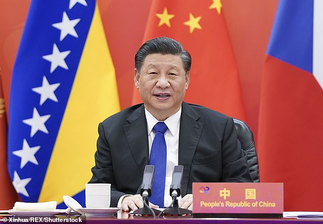 Biden also raised concerns about China's 'economically abusive' practices that threaten global competition - aboveChinese President Xi Jinping