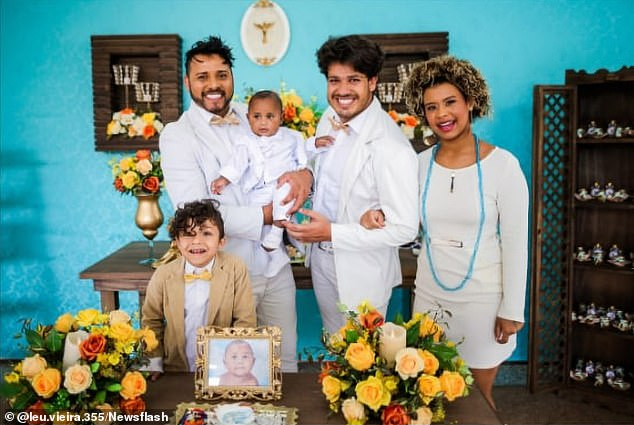 Ricardo (right) had been married to Leandro (left) for 15 years but the couple had split up recently and were sharing custody of their children
