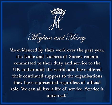 Meghan and Harry's statement