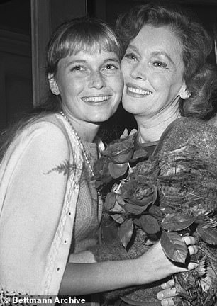 Farrow was born into Hollywood royalty — her father was Australian director John Farrow and her mother Maureen O'Sullivan was most famously Jane to Johnny Weissmuller's Tarzan. Mia is pictured with her mother in 1965