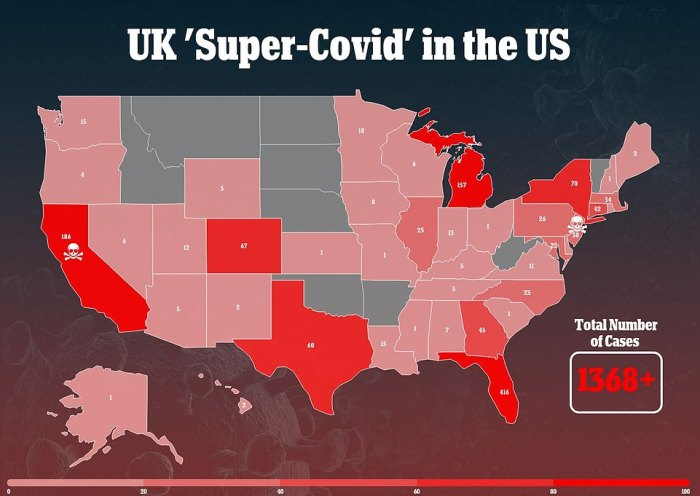 Florida has more cases of the UK's 'super-covid' variant than any other state, with more than 400 - and the number there has quadrupled in less than a month. Variants threaten to trigger another surge, and a University of Washington expert says to watch the Sunshine State closely for a prediction of what will happen across the US