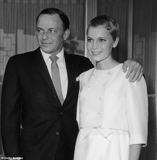 Mia tied the knot with Frank Sinatra (pictured together in 1966) when he was 50 and she was 21, and then set her sights on married composer André Previn - 16 years her senior