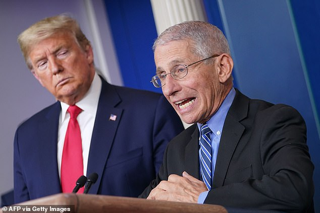 Former President Trump was 'lucky' to survive the coronavirus given his age and weight according to Dr Anthony Fauci