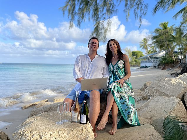 Howard and Randi Abernethy say working from Barbados is one of those 'pinch me' moments