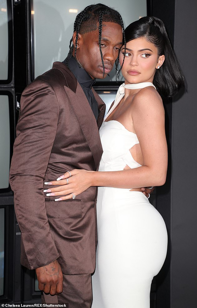Keeping it casual: It comes after a source shed some light on the nature of Kylie's relationship with Travis Scott, 28:'They are still almost an item in that regard — they spend that much time together. They still do hook up' (pictured in August, 2019)