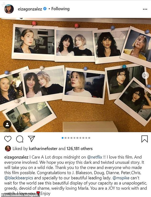 Eiza Gonzalez shares behind-the-scenes photos from her Rosamund Pike-starring thriller I Care A Lot, Nzuchi Times