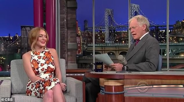 Awkward and uncomfortable:Soon after the Britney Spears documentary aired on Hulu, a 2013 clip from the late show resurfaced on social media which featured Lindsay Lohan