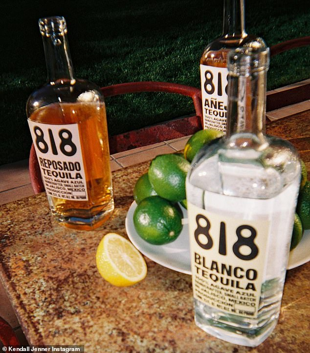Long journey: She wrote on Instagram: 'for almost 4 years i've been on a journey to create the best tasting tequila. after dozens of blind taste tests, trips to our distillery, entering into world tasting competitions anonymously and WINNING'