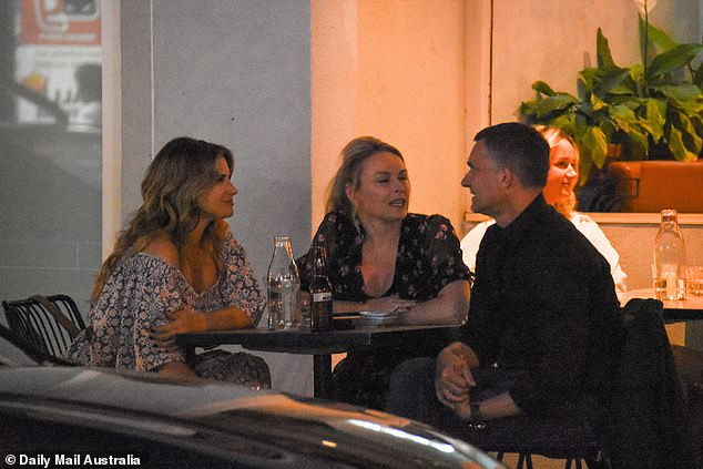 Evening: Alessandra, Mel and John looked relaxed as never before as they were pictured enjoying a night of drinks and food at Bondi's Mexican restaurant, Fonda