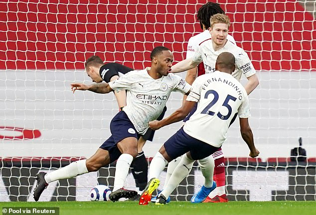 Raheem Sterling's second-minute header decided the match at the Emirates on Sunday night