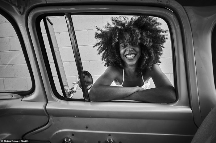 '[Actress] Hayley Law just a bundle of joy' - BBS. The Riverdale actress is seen posing at the passenger side of the old pickup truck