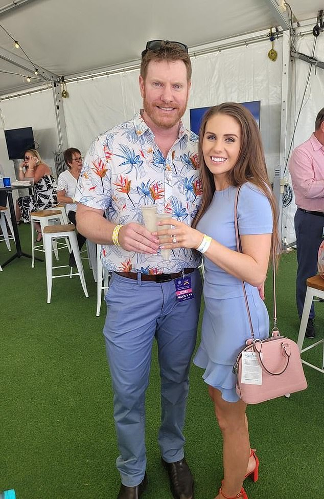Daniel Keighran, who received the Victoria Cross after serving in the Middle East, popped the question to Casey Nixon at the Magic Millions Raceday, on the Gold Coast, in January