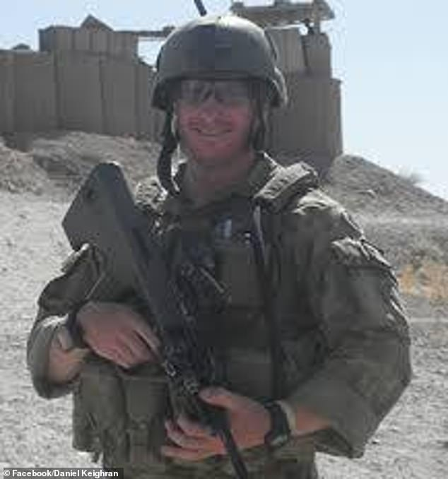 Mr Keighran's fight against the Taliban took him around the world, including East Timor, Malaysia, Iraq and Afghanistan