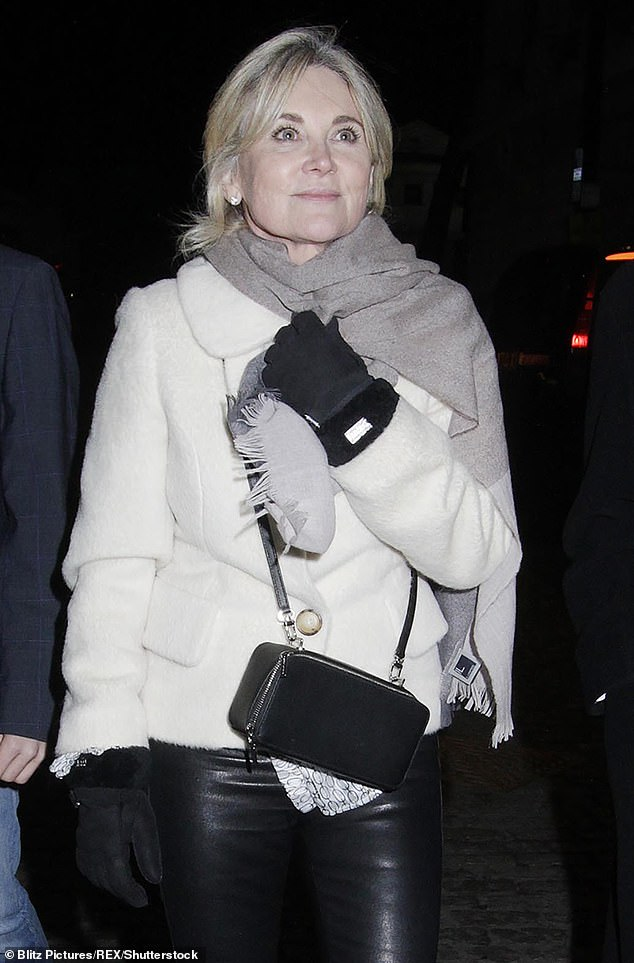 Claims: Anthea Turner has reportedly flouted Covid rules by hosting a secret pamper party at her London flat during the UK's latest lockdown (pictured in 2020)