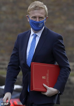 Culture Secretary Oliver Dowden, pictured in Downing Street earlier this month, wants a meeting with Facebook this week