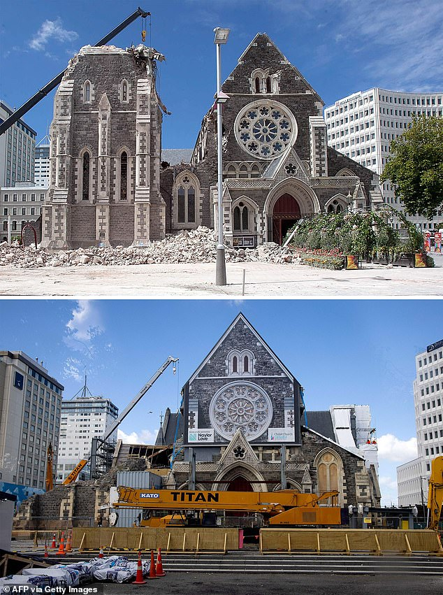 Before and after photos show how Christchurch is still rebuilding 10 years on from the quake