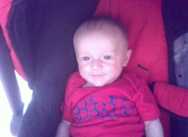 Little Baxtor Rowland died in his sleep when he was hit by falling masonry