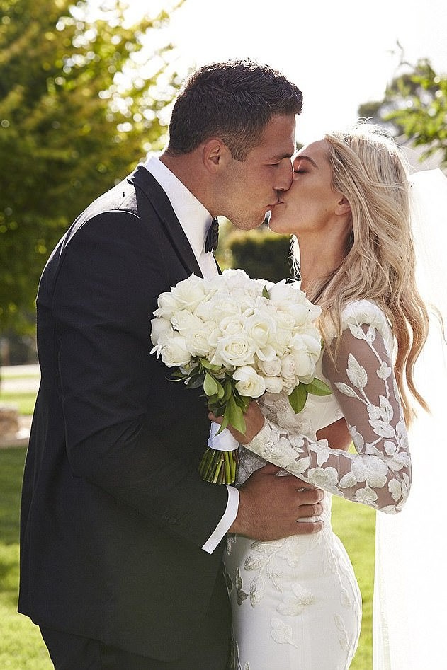 Sam Burgess married Phoebe Hooke at her family home just outside Bowral in the NSW Southern Highlands in December 2015. The couple had two children and split in late 2019