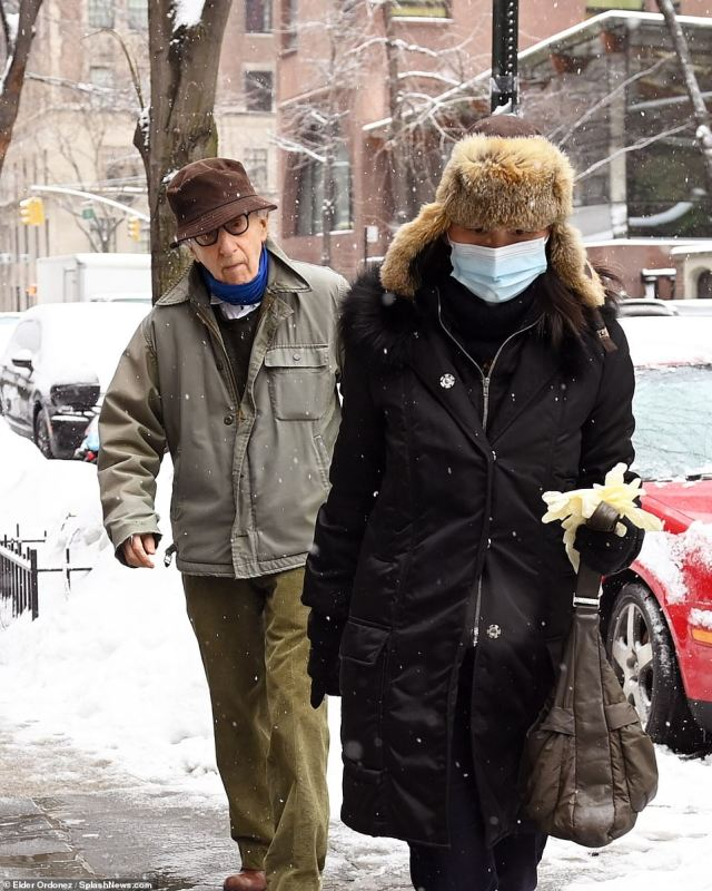 Woody Allen and his wife, Soon-Yi Previn, were spotted near their home on Manhattan's Upper East Side on Friday. The couple released a statement late on Sunday blasting the HBO documentary series as a 'hatchet job' that was 'riddled with falsehoods'