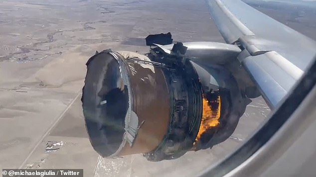 The accident came just a day after the engine of another Boeing jet - a United Airlines 777 passenger plane - exploded in the skies over Denver